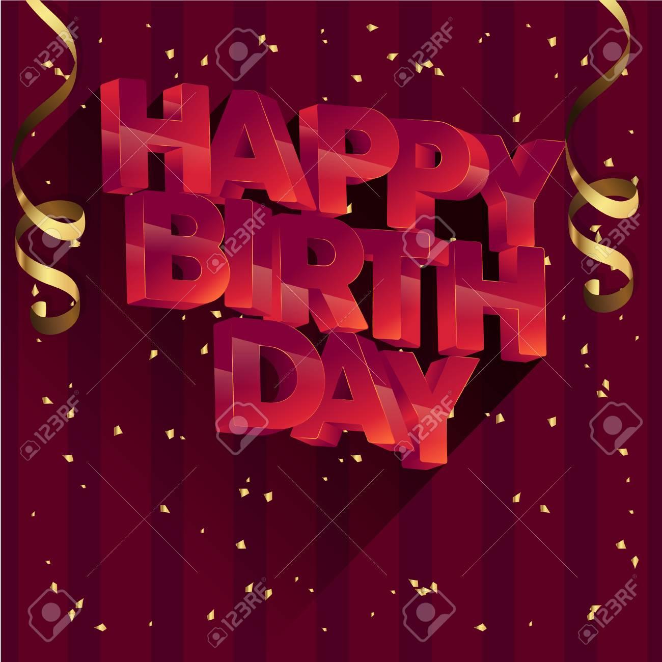 Diseño De Tarjeta De Felicitación De Vector De Feliz Cumpleaños Para Invitaciones Y Celebración