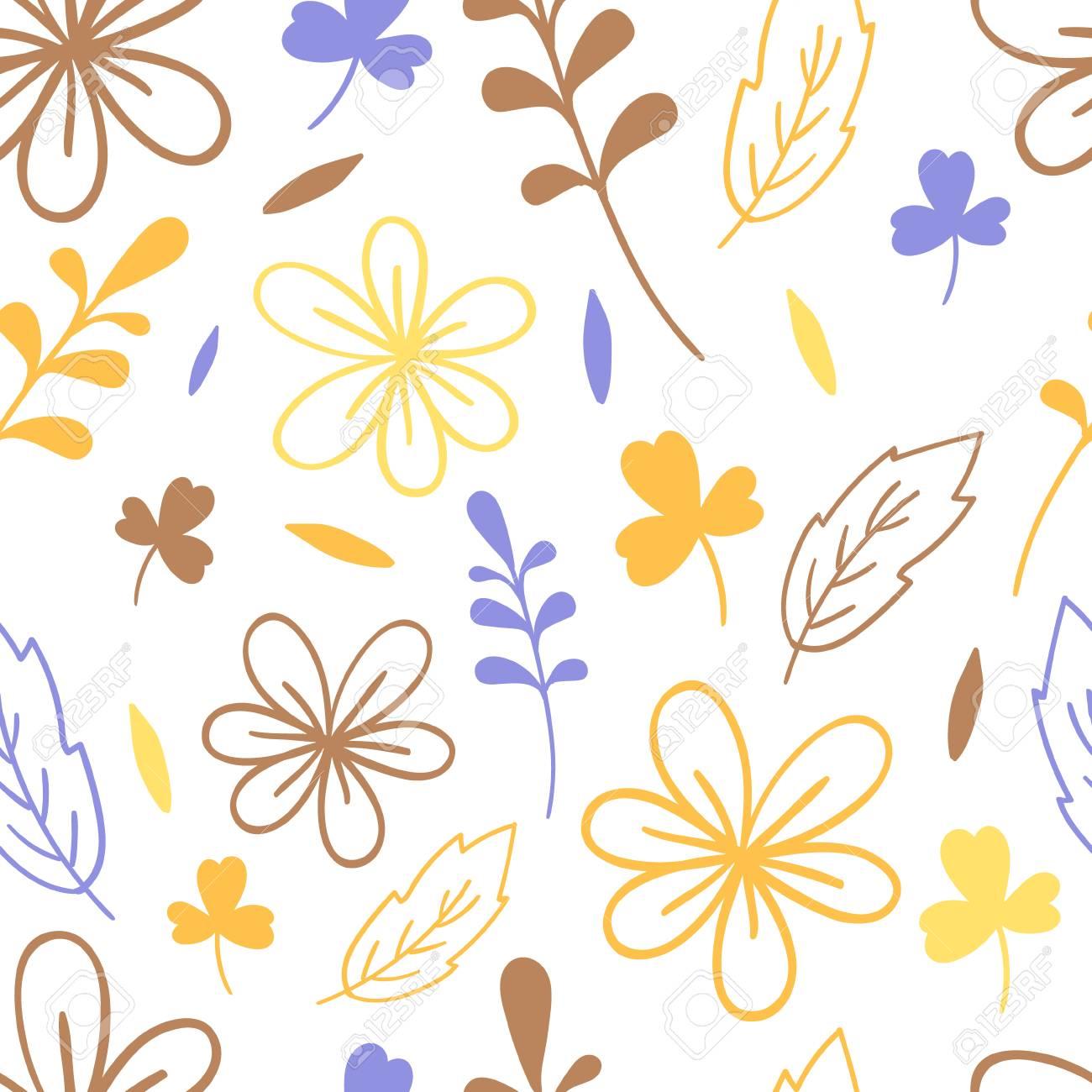 Seamless simplicity floral pattern. Elegant vector illustration. For print, card - 97072461
