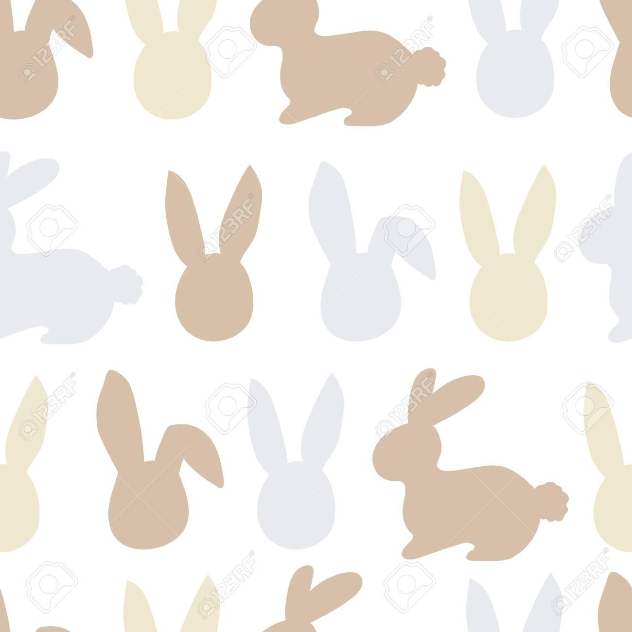 Happy easter bunny pattern. Egg hunt vector illustration for flyer, design, scrapbooking, poster, banner, web element - 97417975