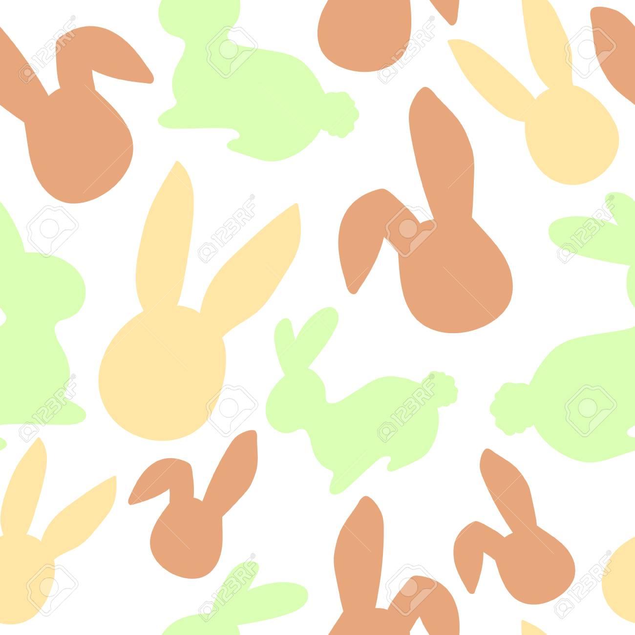 Bunny pattern. Easter egg hunt vector illustration for design, scrapbooking, poster, banner, web element - 97423633