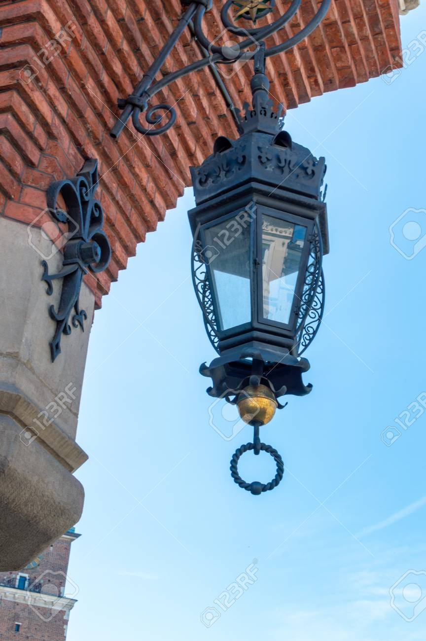 Lamp on the old building in Krakow. Square of market - 106023706