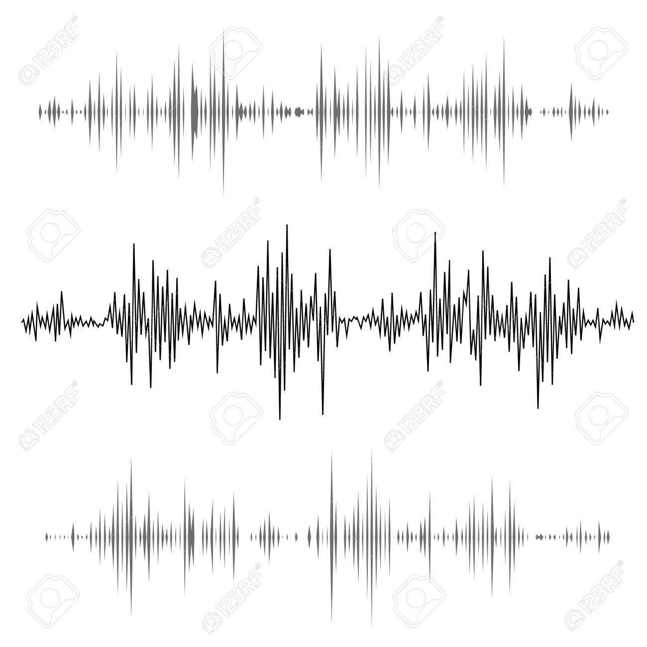 Vector music sound waves set. Audio sound equalizer technology, pulse musical. Vector illustration - 46270213