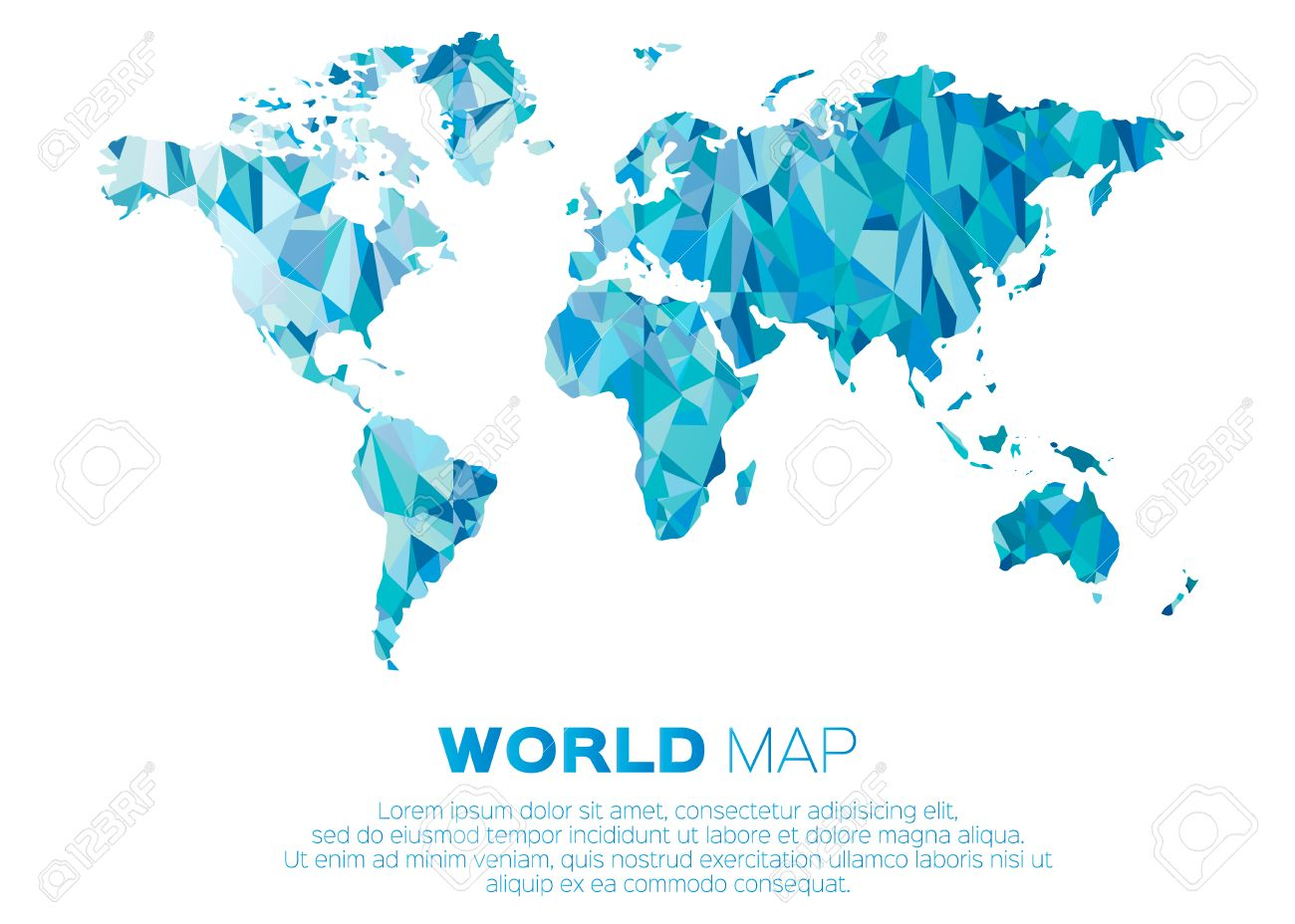 World map background in polygonal style abstract origami color world map background in polygonal style abstract origami color map design stock vector gumiabroncs Gallery