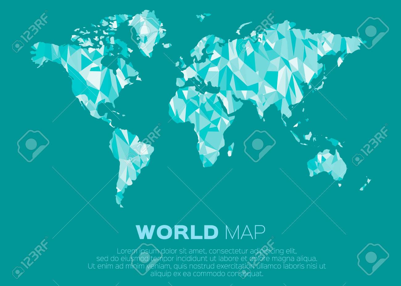 World map background in polygonal style abstract origami color vector world map background in polygonal style abstract origami color map design gumiabroncs Image collections