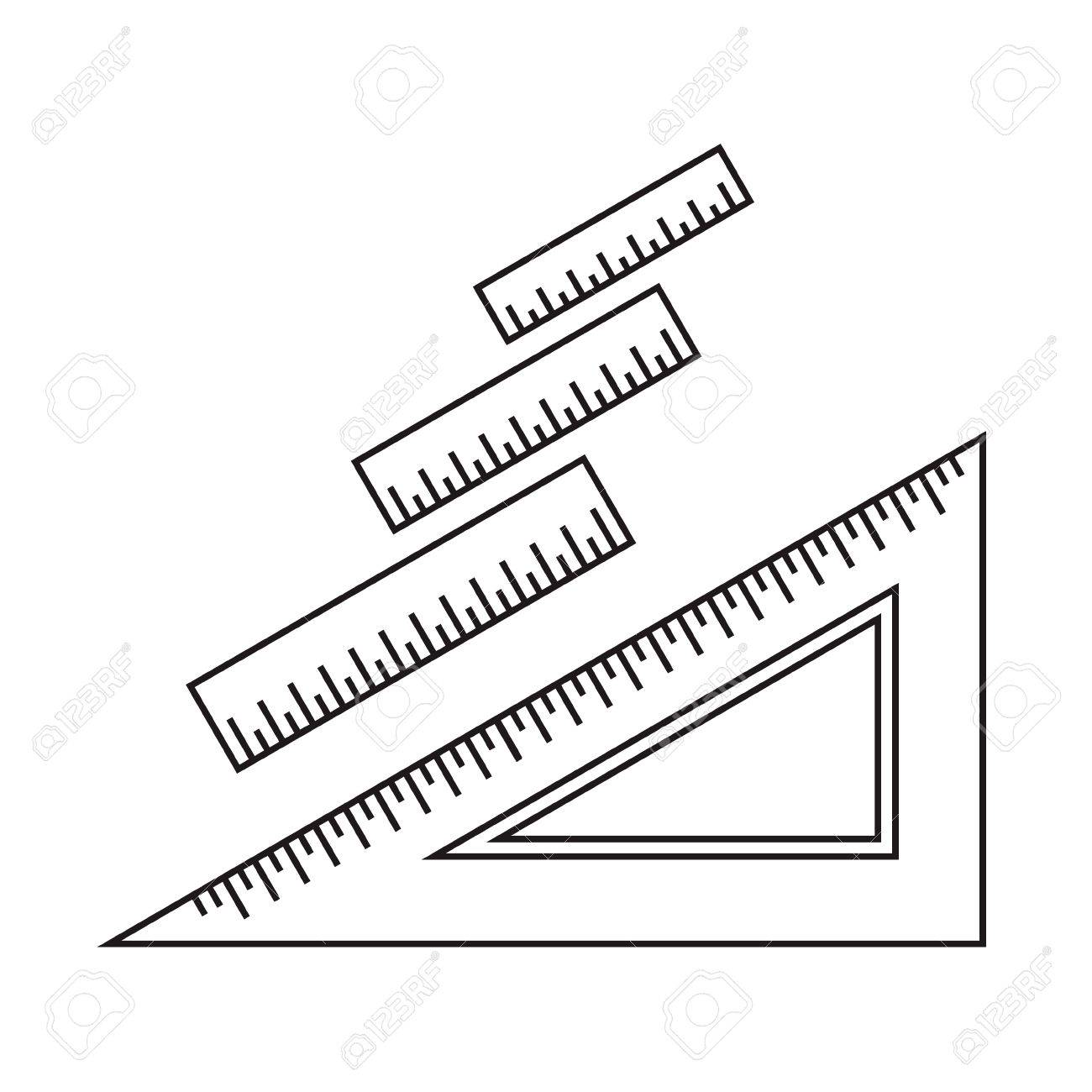 Ruler icon. Ruler symbol. Office Supply Objects. Flat Vector illustration. - 46353991
