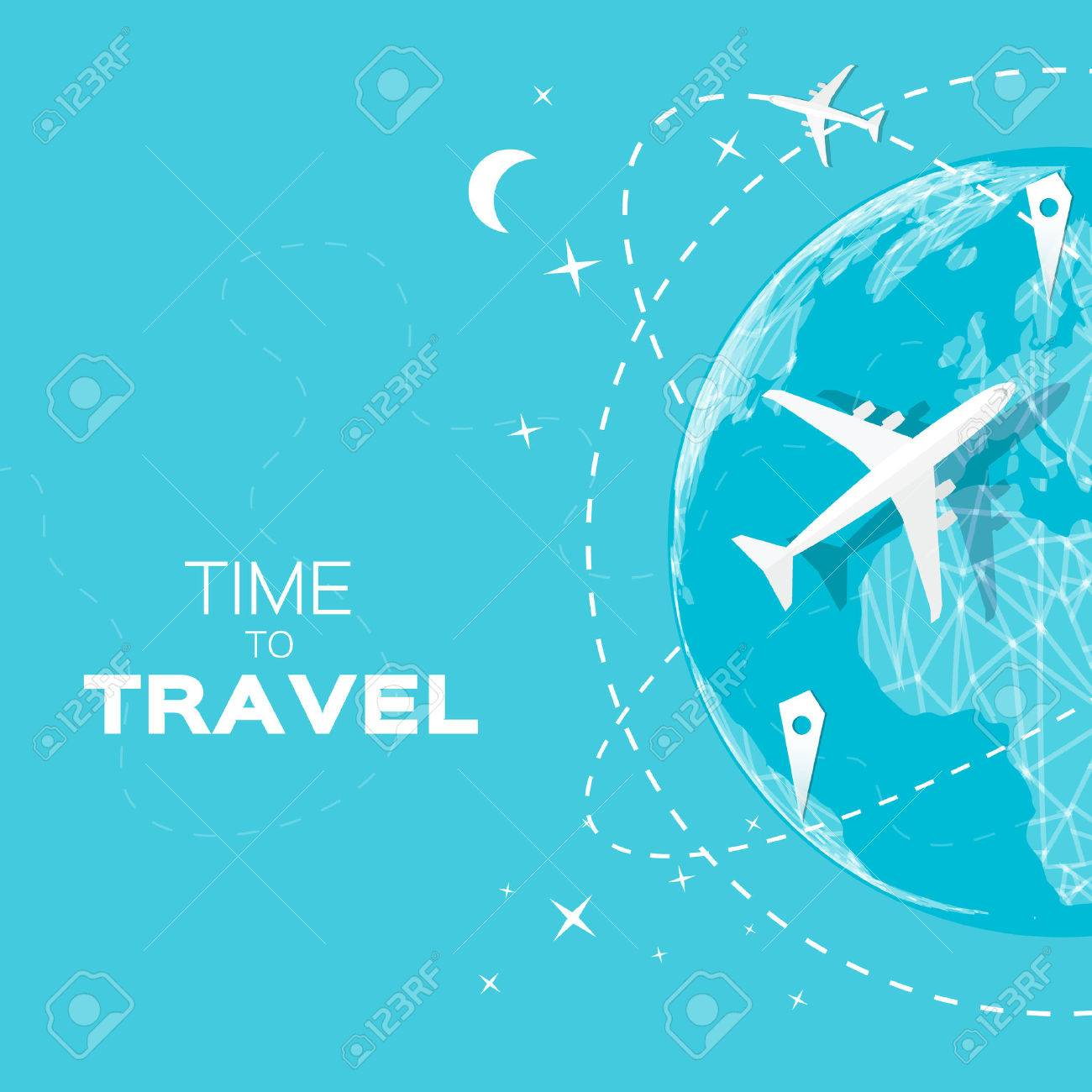 Travel world map background in polygonal style with top view travel world map background in polygonal style with top view airplane vector illustration design gumiabroncs Choice Image