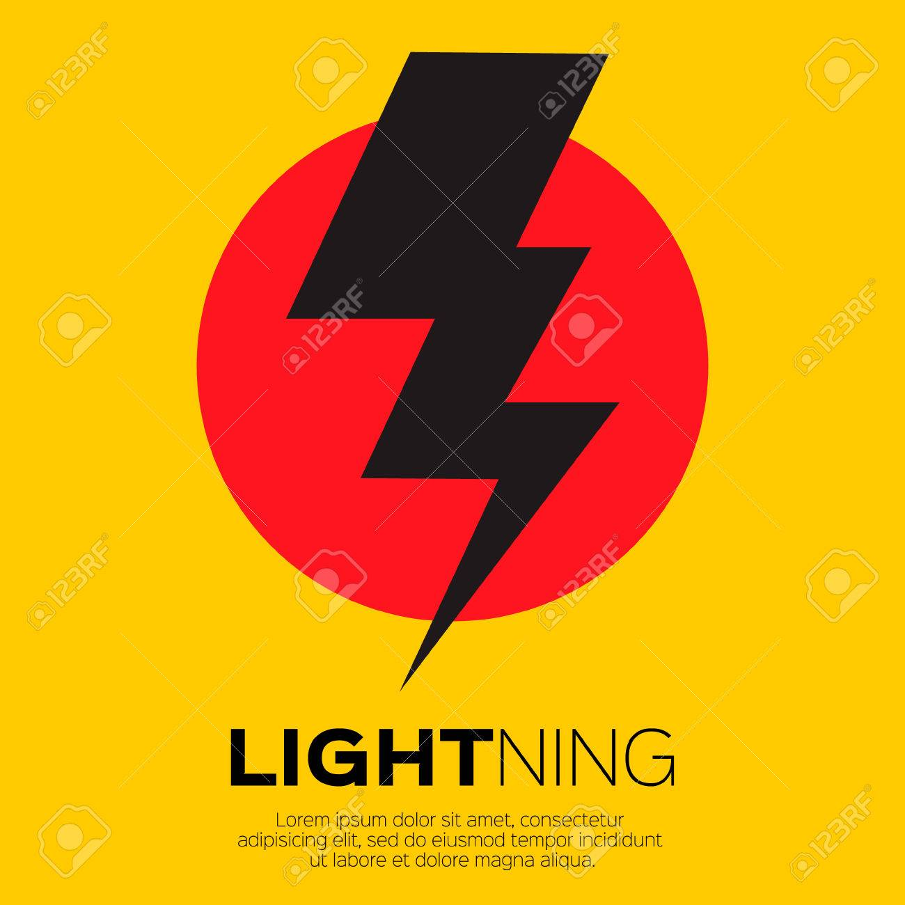 Lightning bolt icon for apps and websites - 47219758