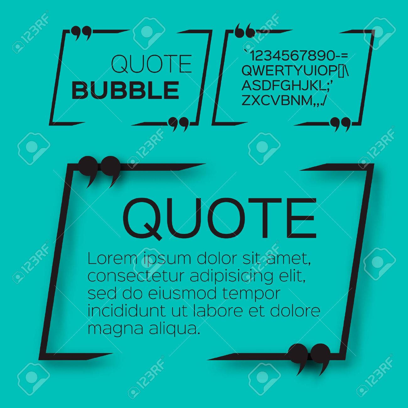 Quote bubble. Empty Citation text box template. Quote blank. - 47540463