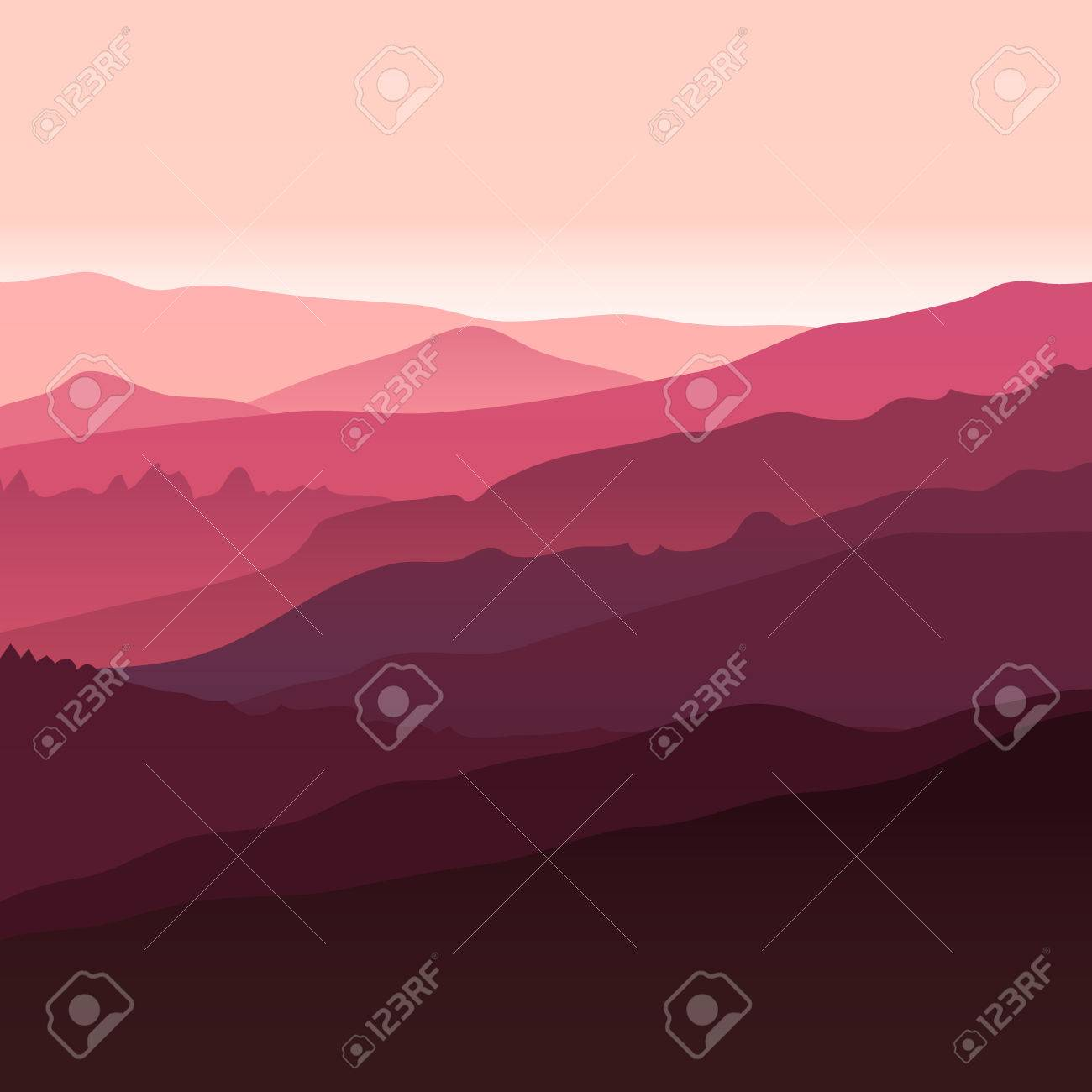 View of red mountains. Mountain landscape. - 48362483