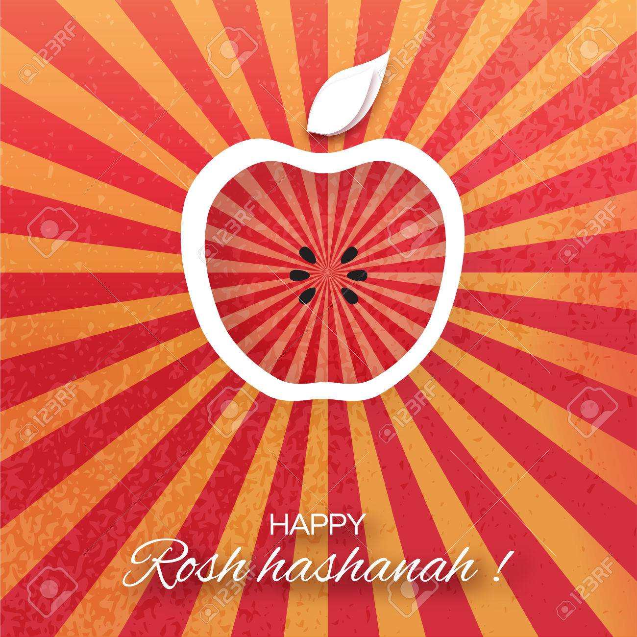 Rosh hashanah holiday origami greeting card jewish new year rosh hashanah holiday origami greeting card jewish new year red background with apple kristyandbryce Choice Image