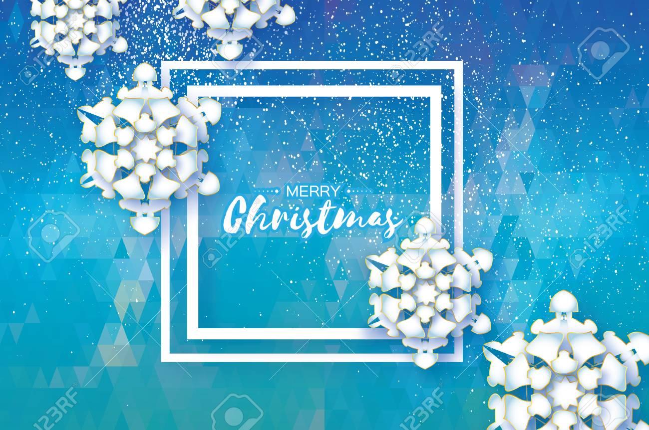 Origami snowfall merry christmas greetings card white paper merry christmas greetings card white paper cut snow flake happy new kristyandbryce Choice Image