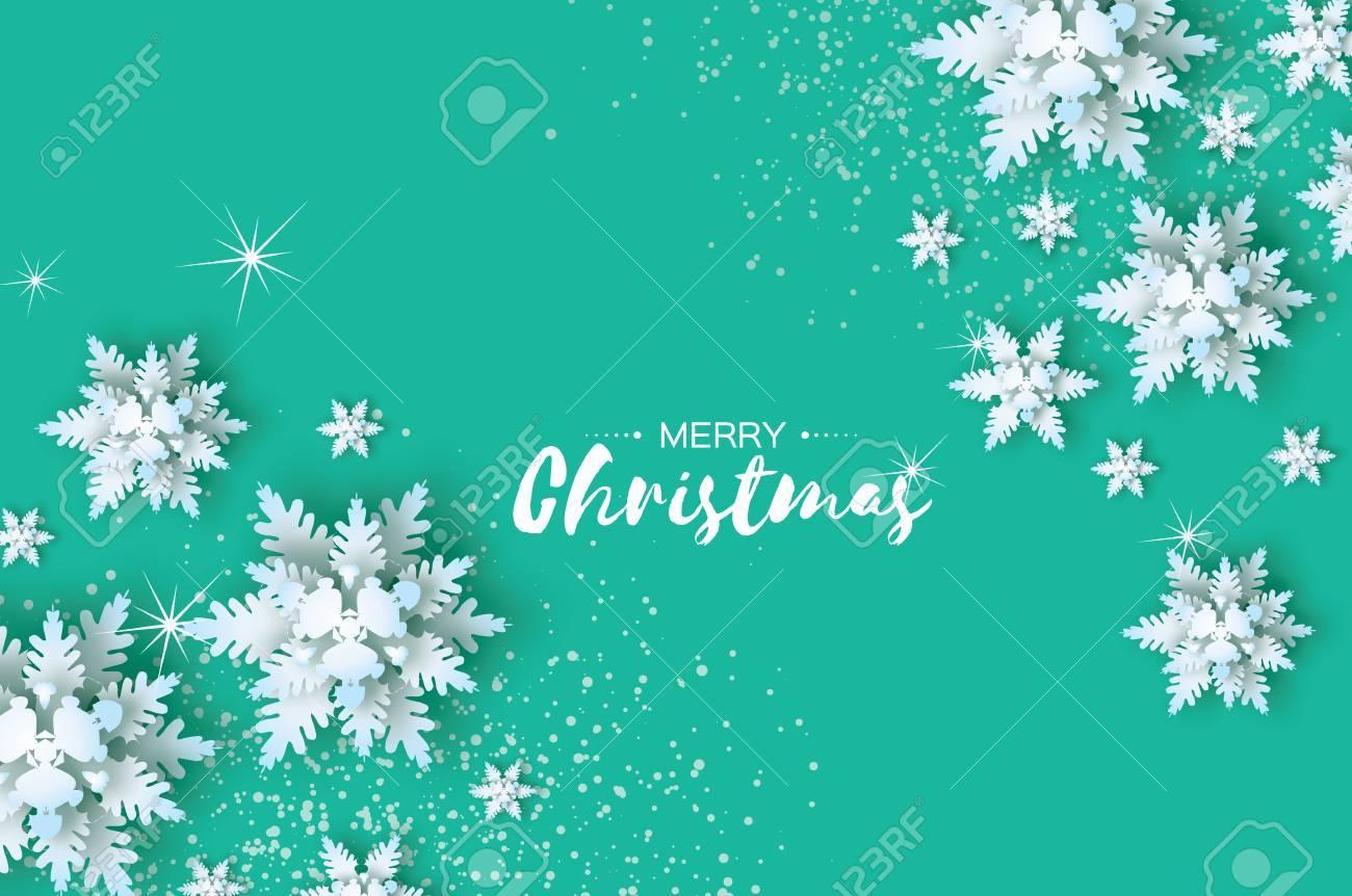 Origami snowfall merry christmas greetings card white paper merry christmas greetings card white paper cut snow flake happy new kristyandbryce Gallery