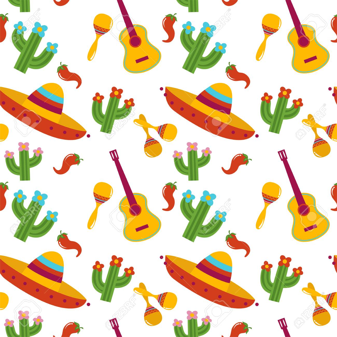 Mexican Pattern With Sombrero 6dcc224e039