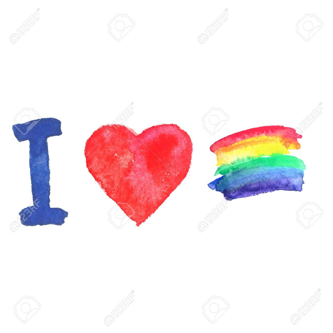 bandera gay acuarela