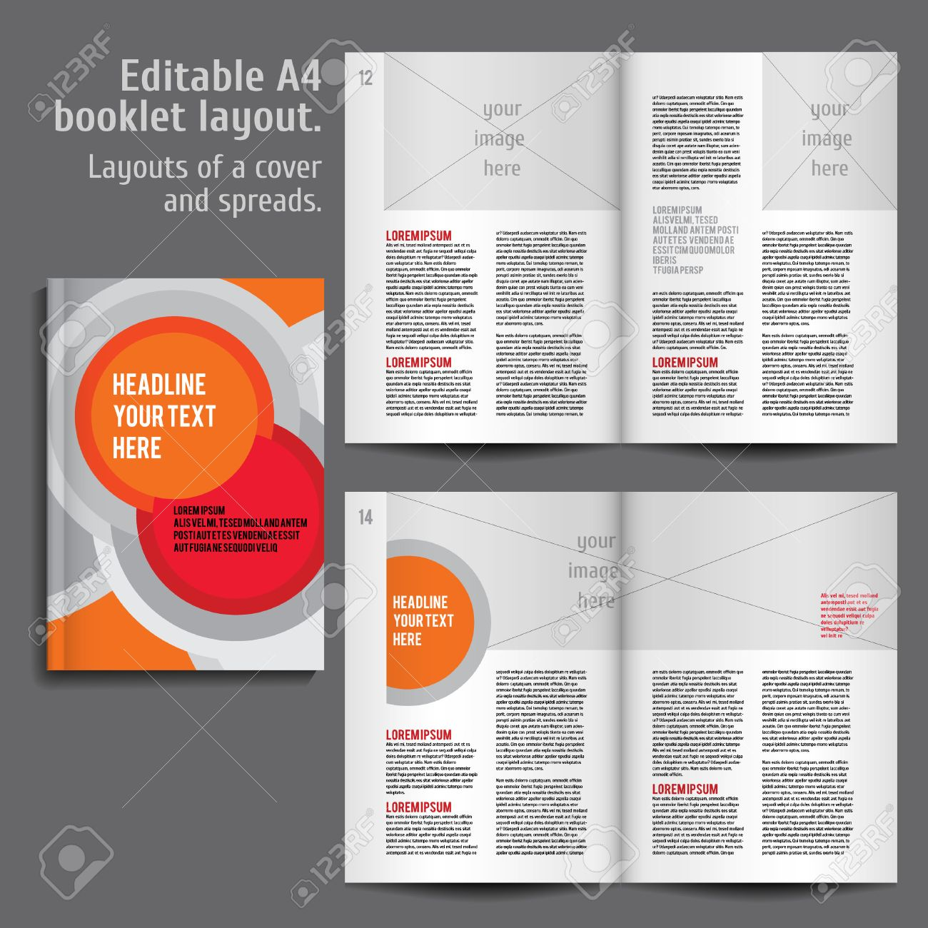 modern vector abstract brochure report or flyer design template modern vector abstract brochure report or flyer design template cover and 2 spreads of