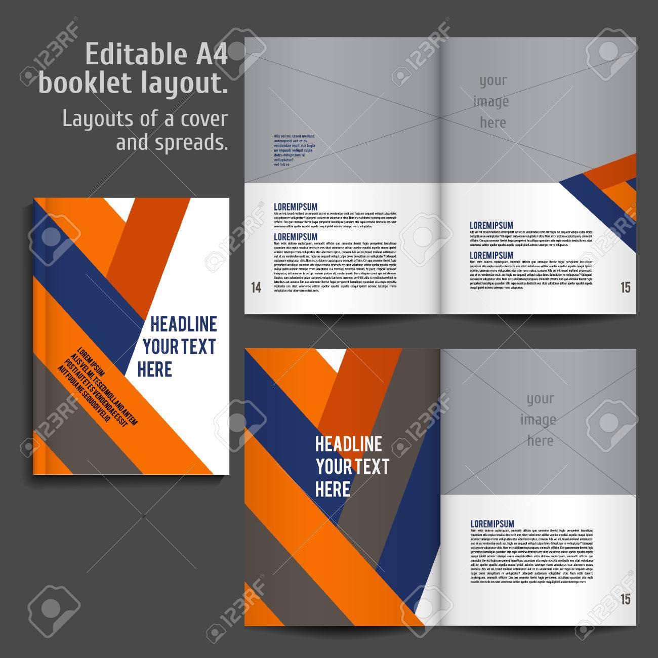 A4 Libro Geométrico Abstracto Diseño De Plantillas De Diseño Con ...