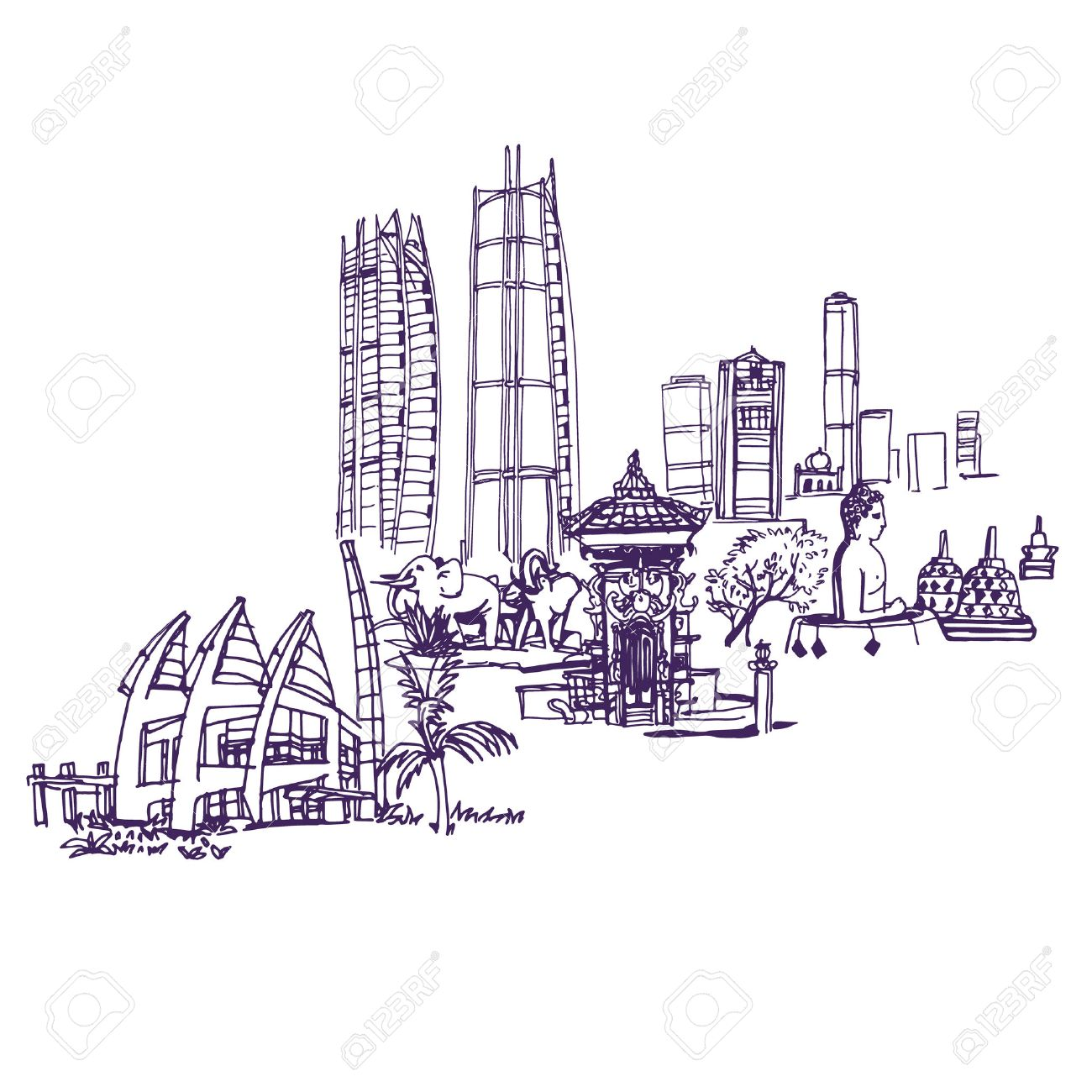 jakarta skyline places and architecture around the world