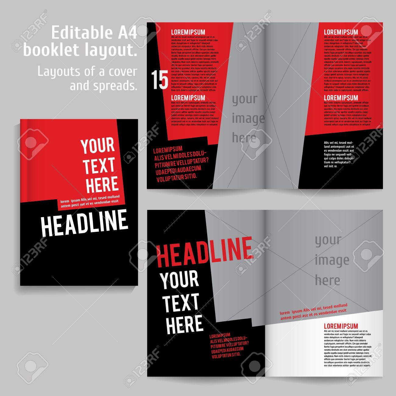 A4 Libro Diseño De Plantillas De Diseño Con Tapa Y 2 Diferenciales ...