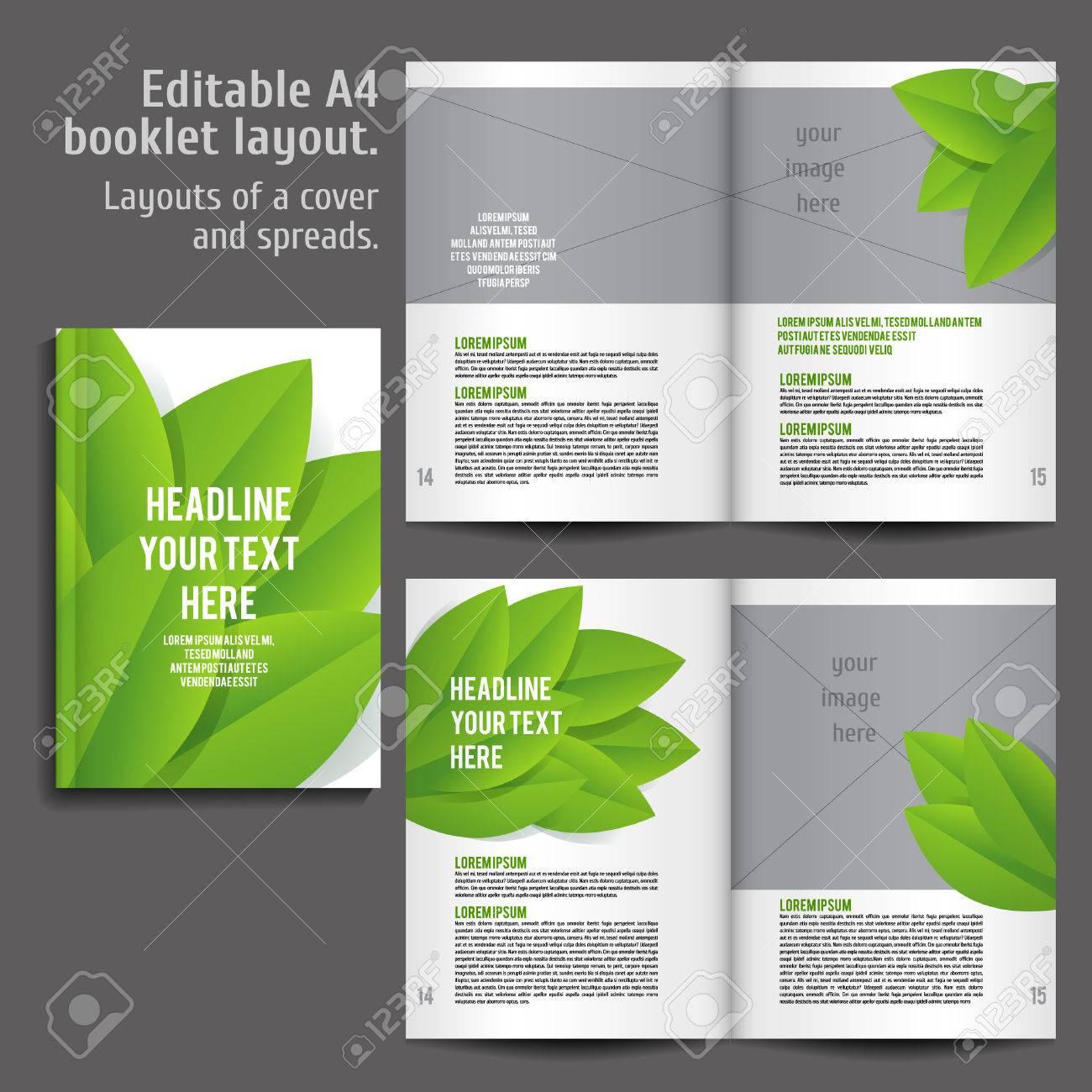 A4 Libro Diseño De Plantilla De Diseño Con Tapa Y 2 Diferenciales De ...