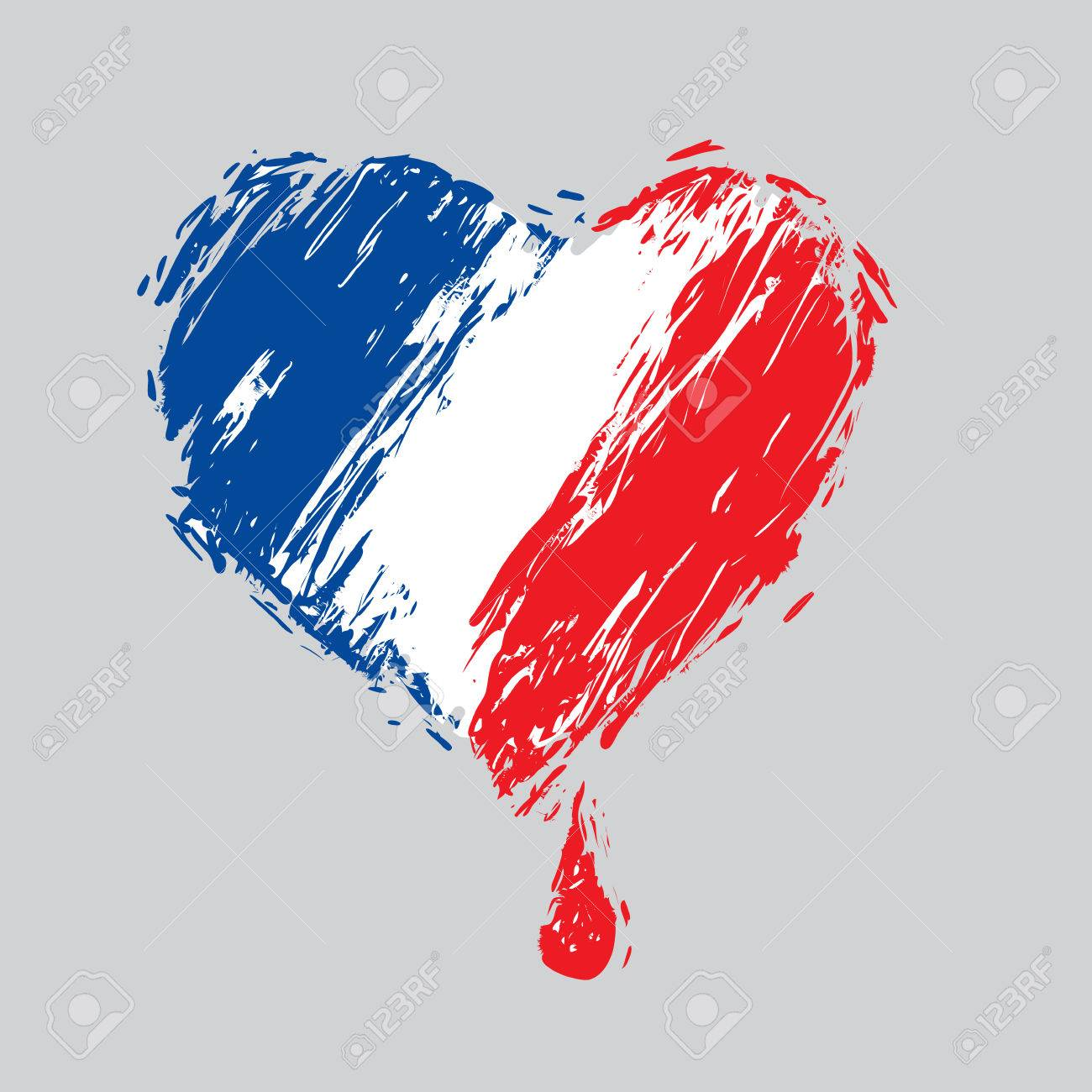 Bleeding heart in the colors of the french flag as a symbol bleeding heart in the colors of the french flag as a symbol of national mourning buycottarizona