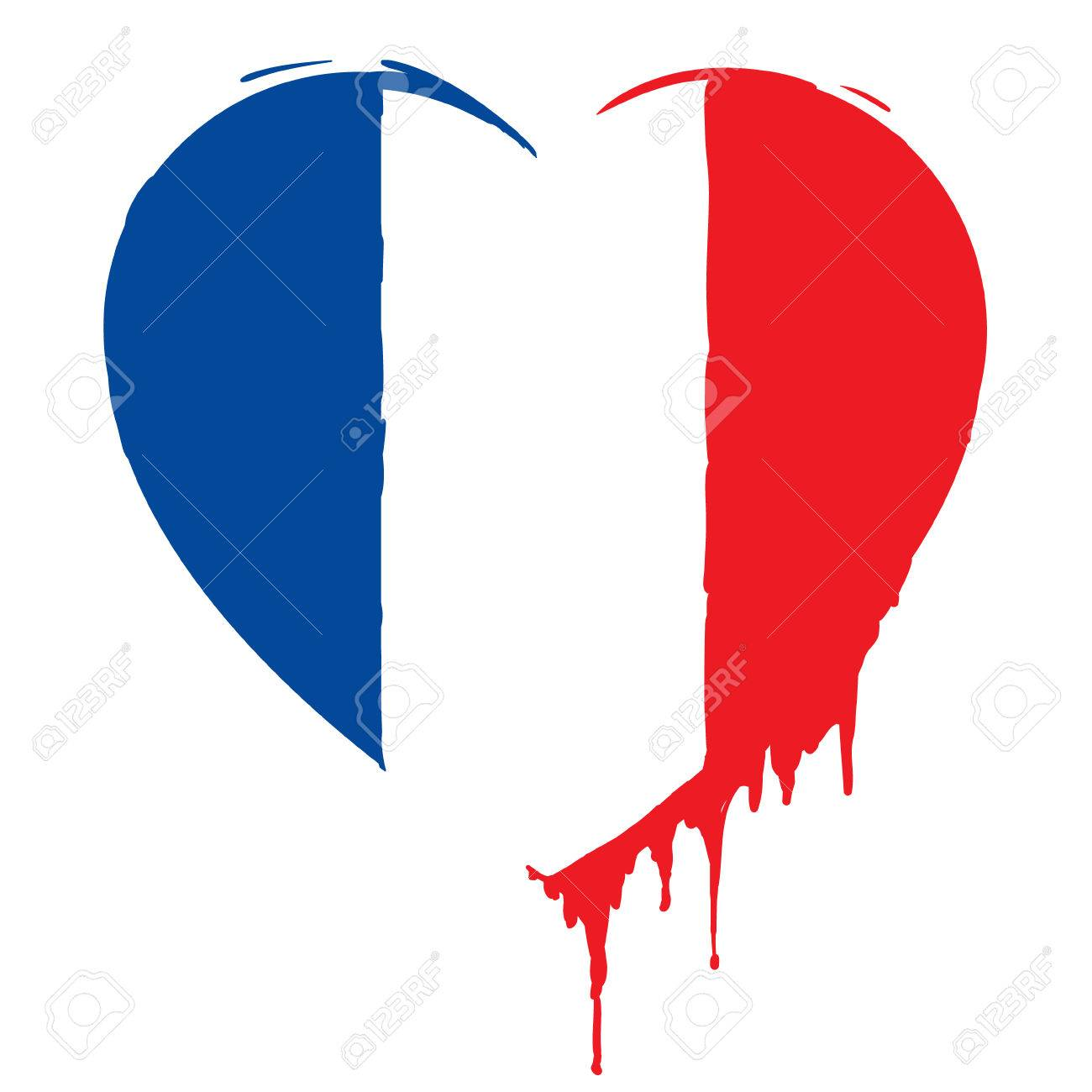 Bleeding heart in the colors of the french flag as a symbol of bleeding heart in the colors of the french flag as a symbol of national mourning buycottarizona