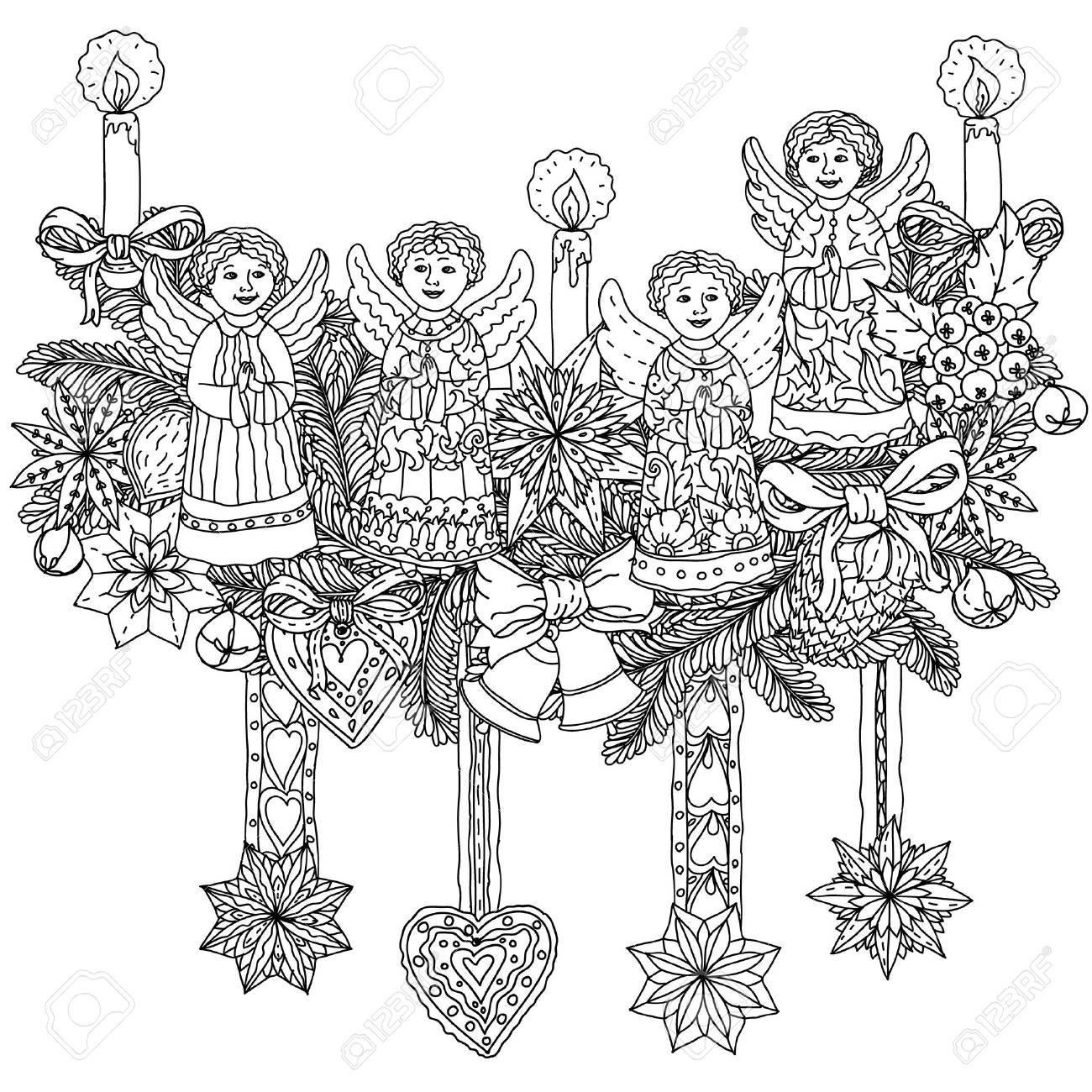 Navidad, Objetos De Decoración Y Negro Blanco. El Mejor Para Su ...