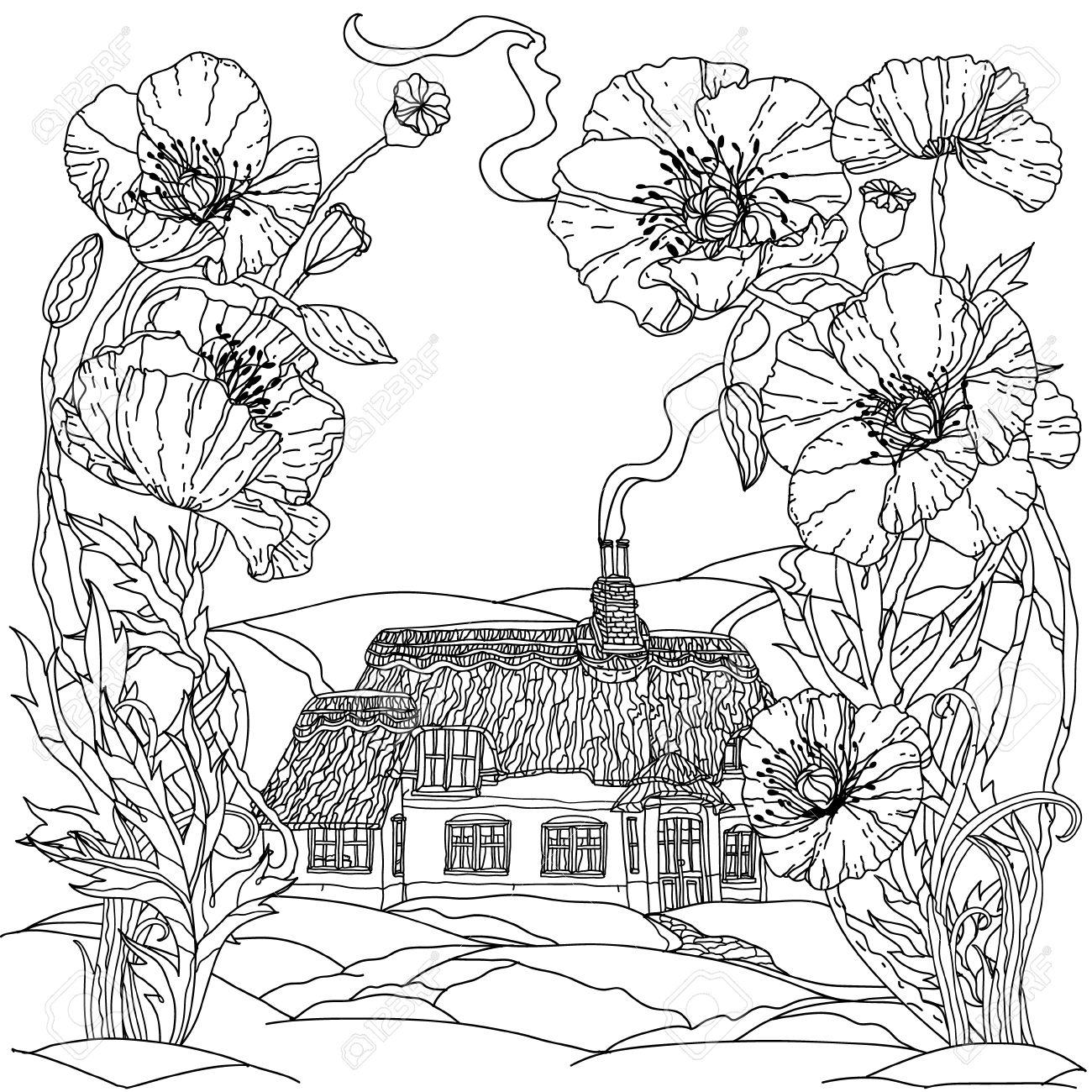 casa campo. el dibujo de la segunda casita para colorear esta ...