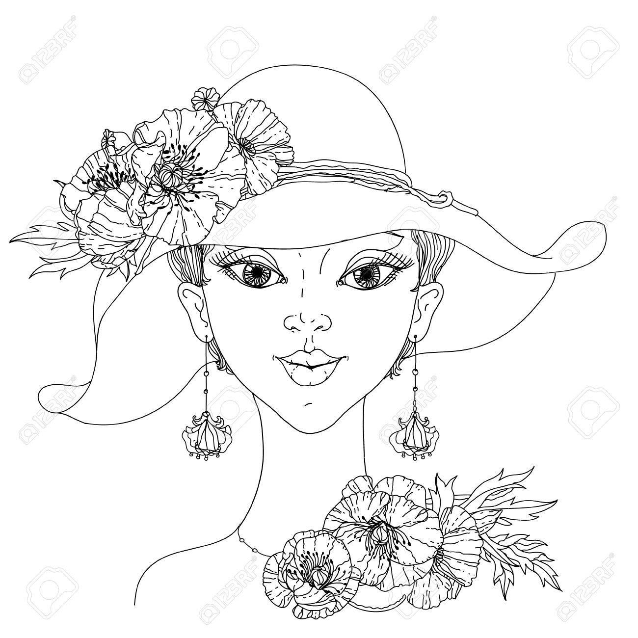 Mujeres De La Moda Sin Colorear El Cabello Con Extracto Y Un ...