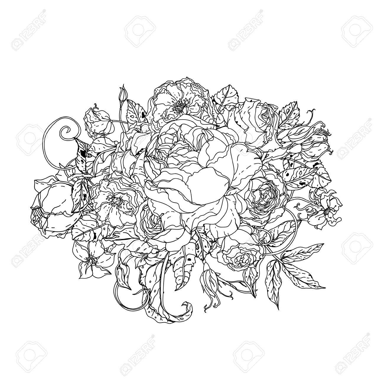 Coloring book for adults ebay - The Mindfulness Colouring Book Ebay Uncolored Colouring Book Style Luxury Roses In Zenart Style Could