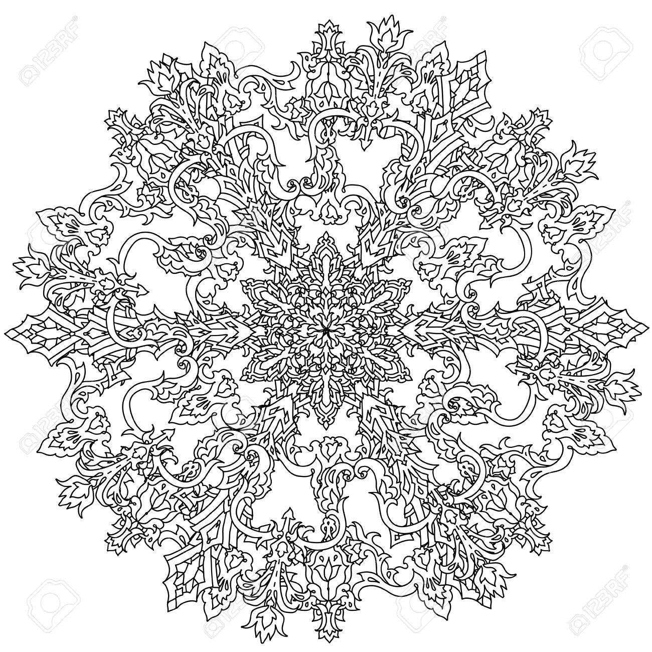 Flocons De Neige Profilees En Forme De Mandala Pour Livre De