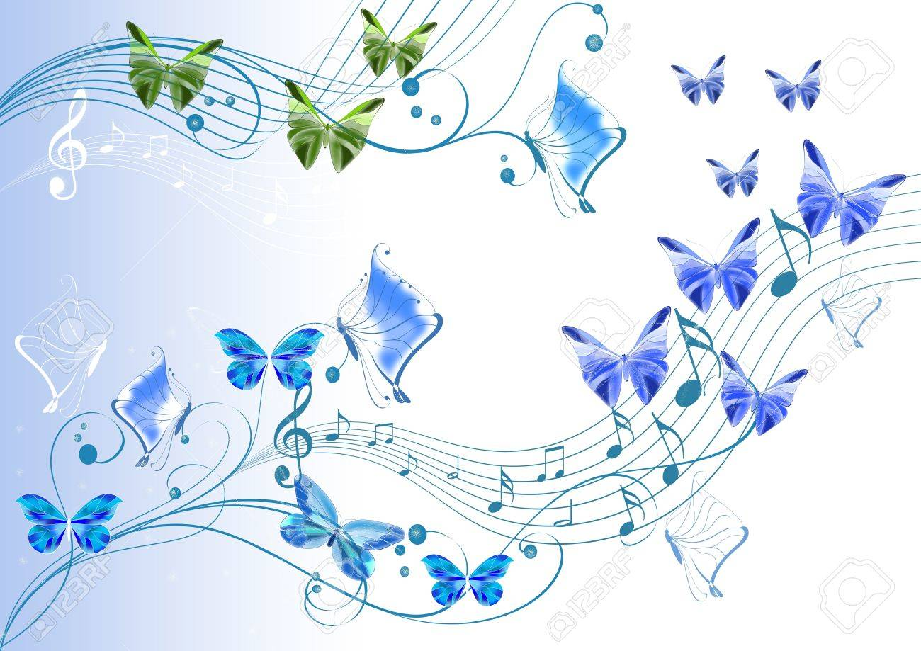 Beautiful illustration for your design   Butterflies design Stock Photo - 13306038