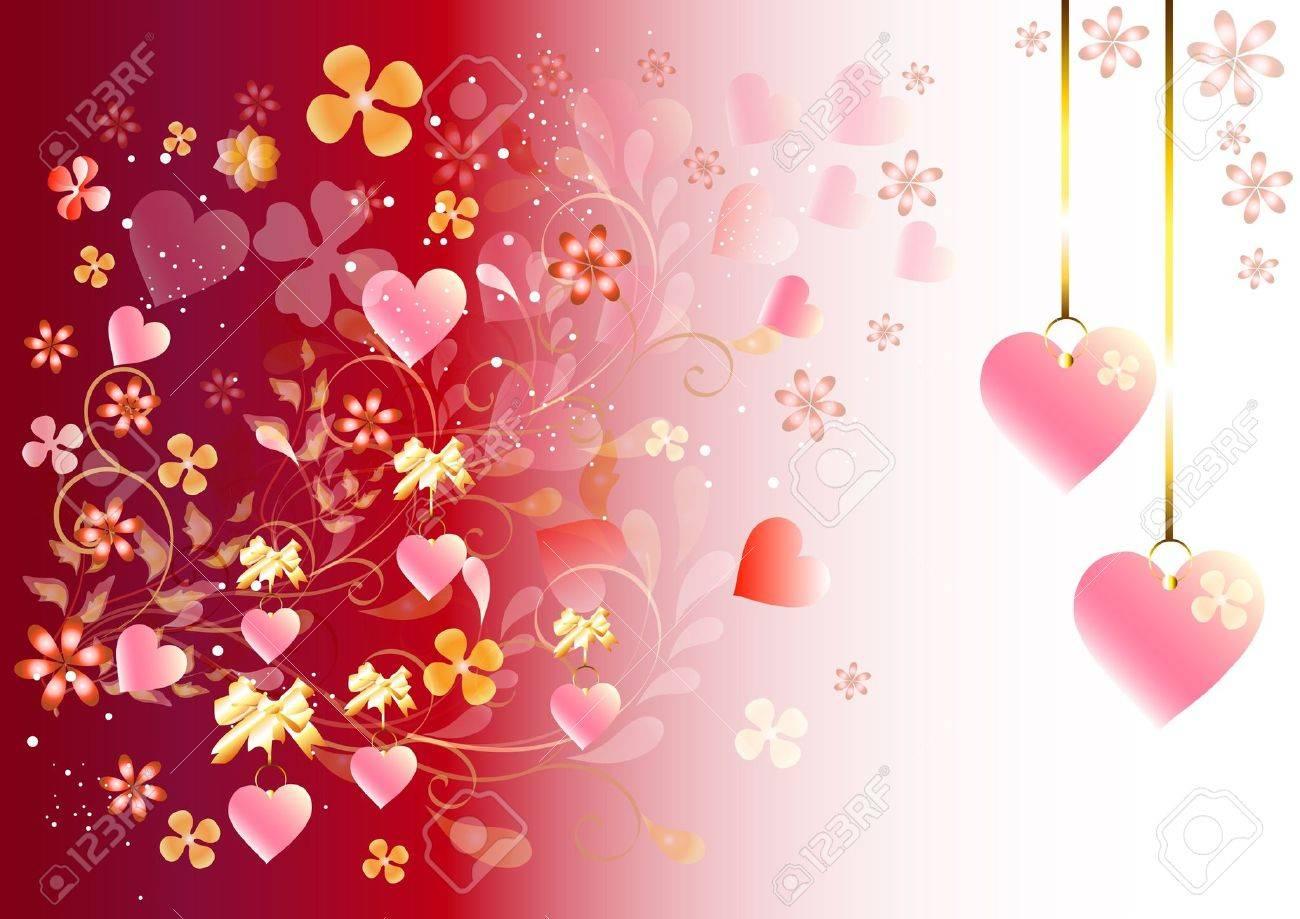 jolie carte de valentine pour vos événements de conception clip art