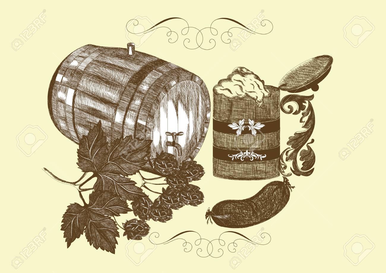 Vector beer elements Stock Vector - 14890095