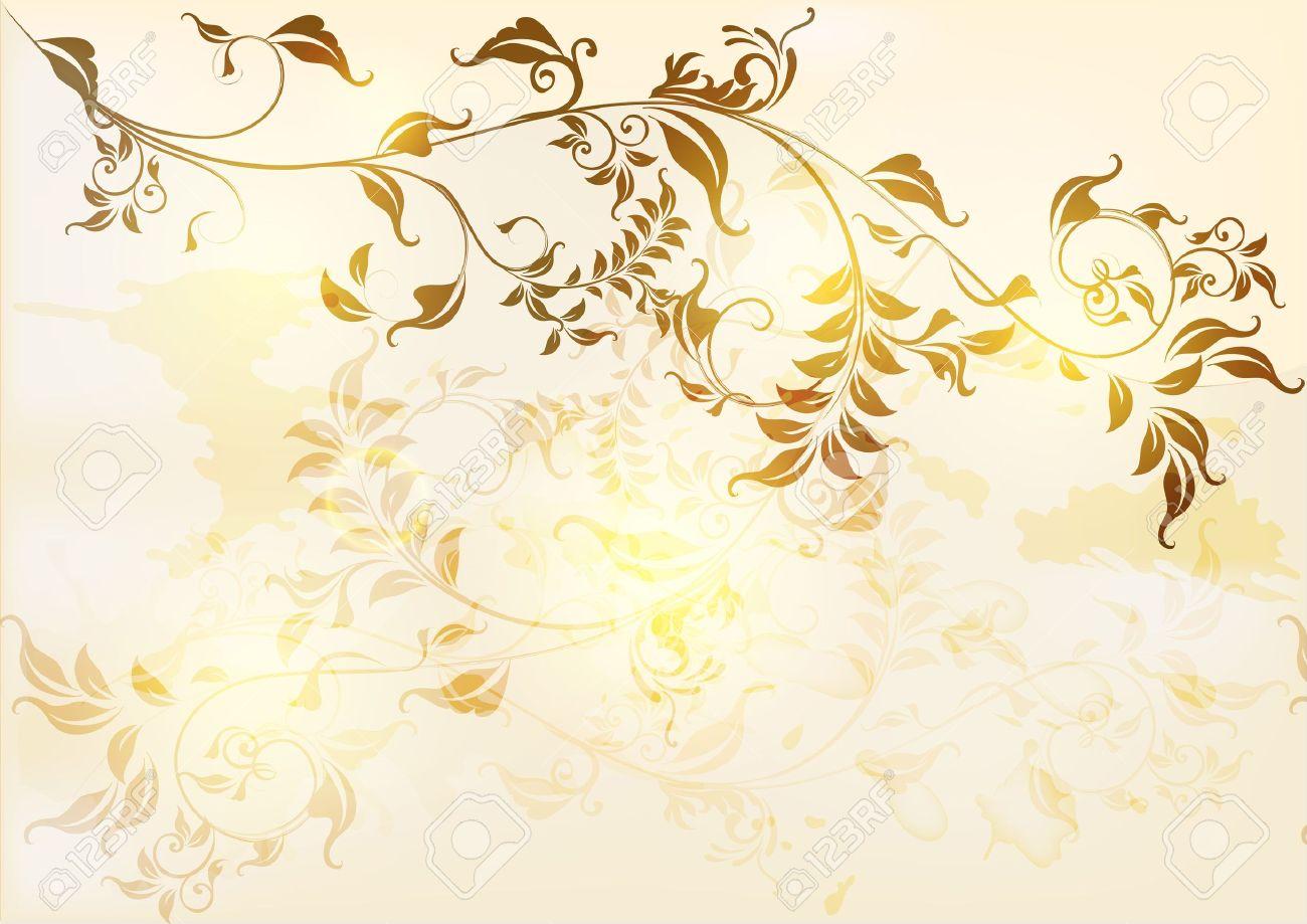 Floral vintage background - Elegant Antique Background In Floral Vintage Style Vintage Design Stock Vector 15067222