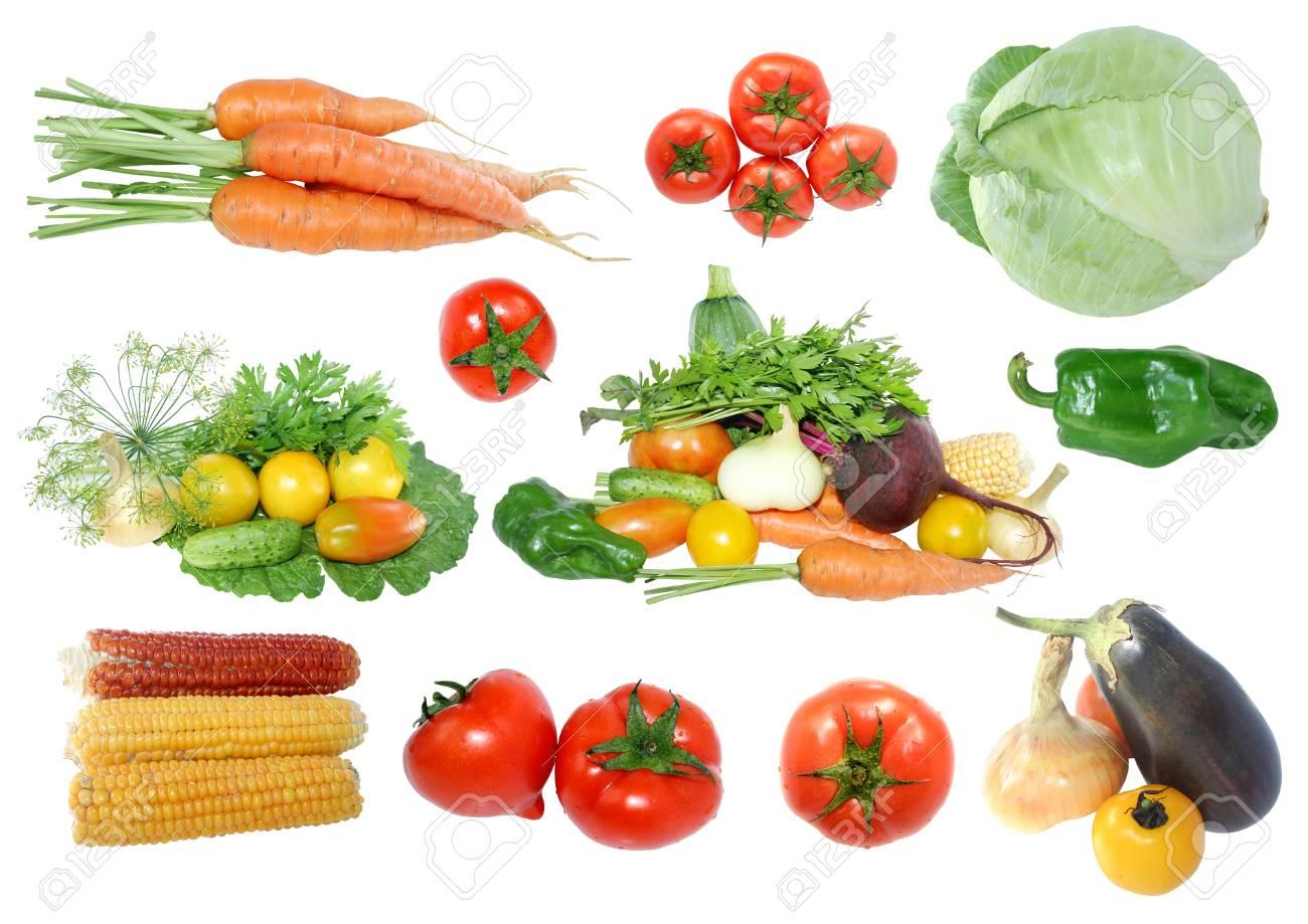 fresh vegetables on a white background Stock Photo - 15316018