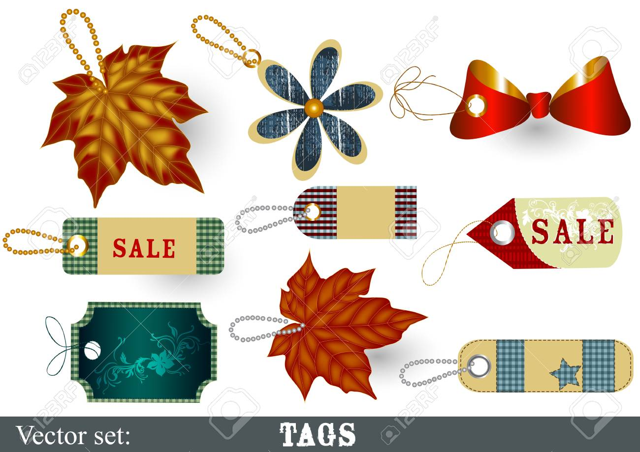 set of labels for sale design Stock Vector - 15426185