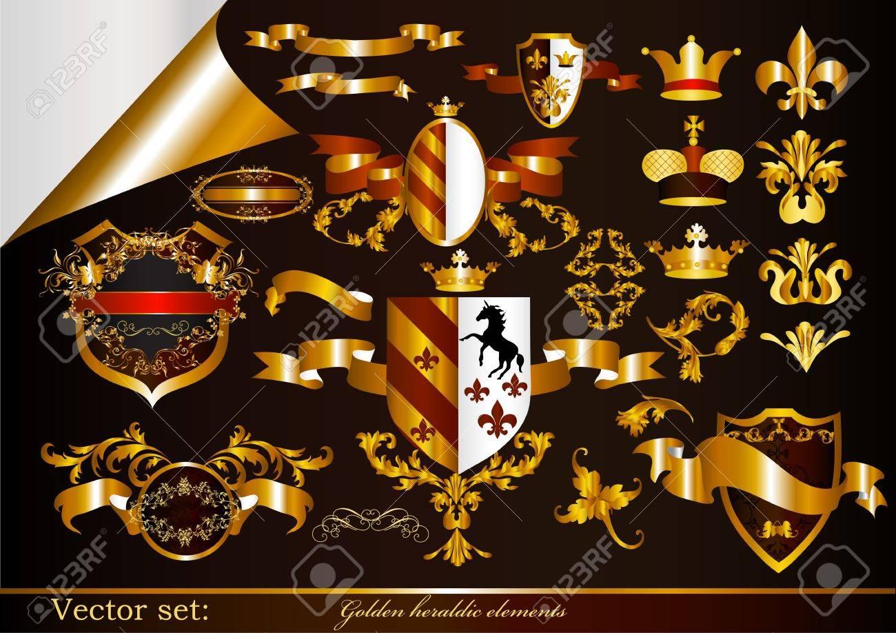 Luxury heraldic elements for design Stock Vector - 15552337