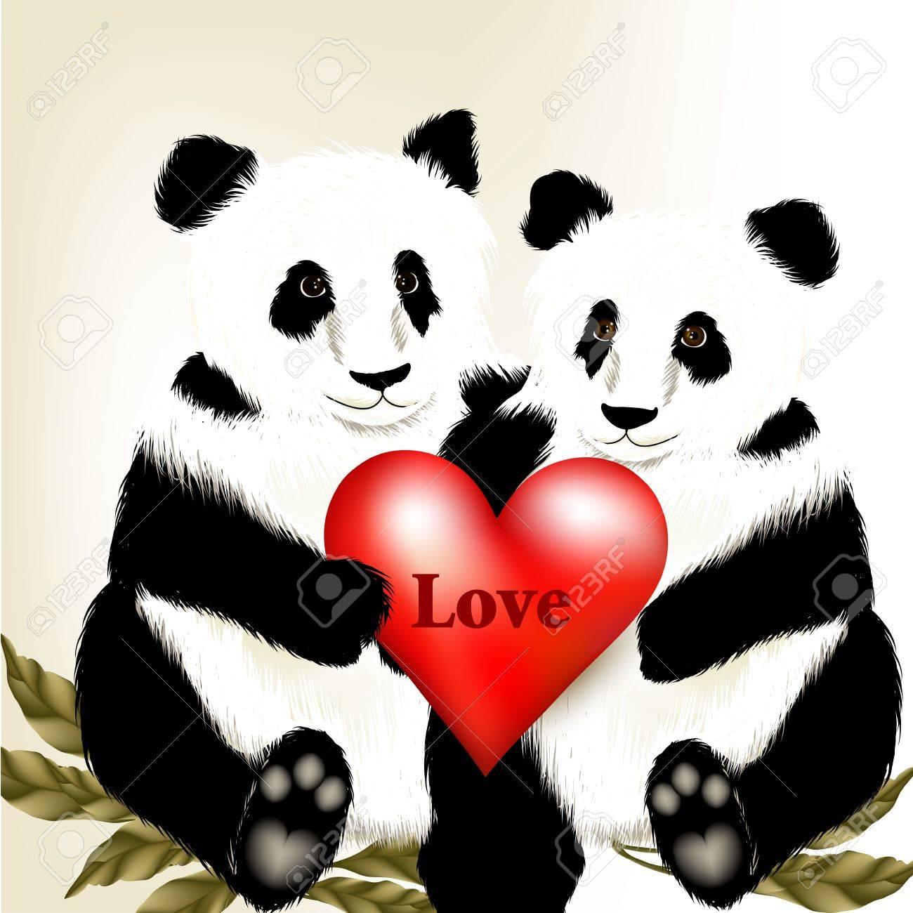 Panda Caricatura Imágenes De Archivo, Vectores, Panda Caricatura ...