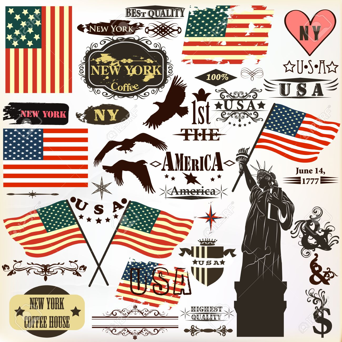 Cool united states symbols clipart library vector set of vintage elements united states symbols for rh 123rf com clip art united states symbols united states symbols and meanings buycottarizona