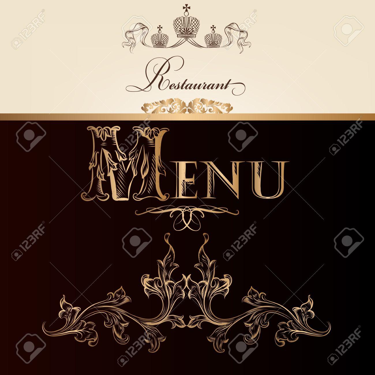 Elegant classic wedding invitation or menu. Retro vector Stock Vector - 20407040