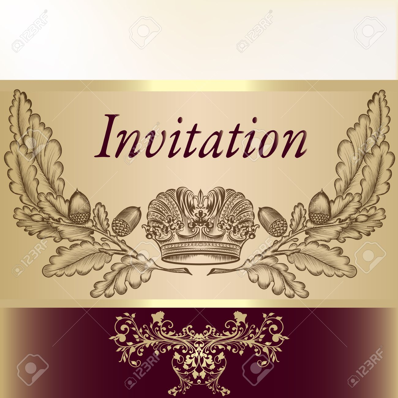 Royal Invitation Card For Design Royalty Free Cliparts Vectors And
