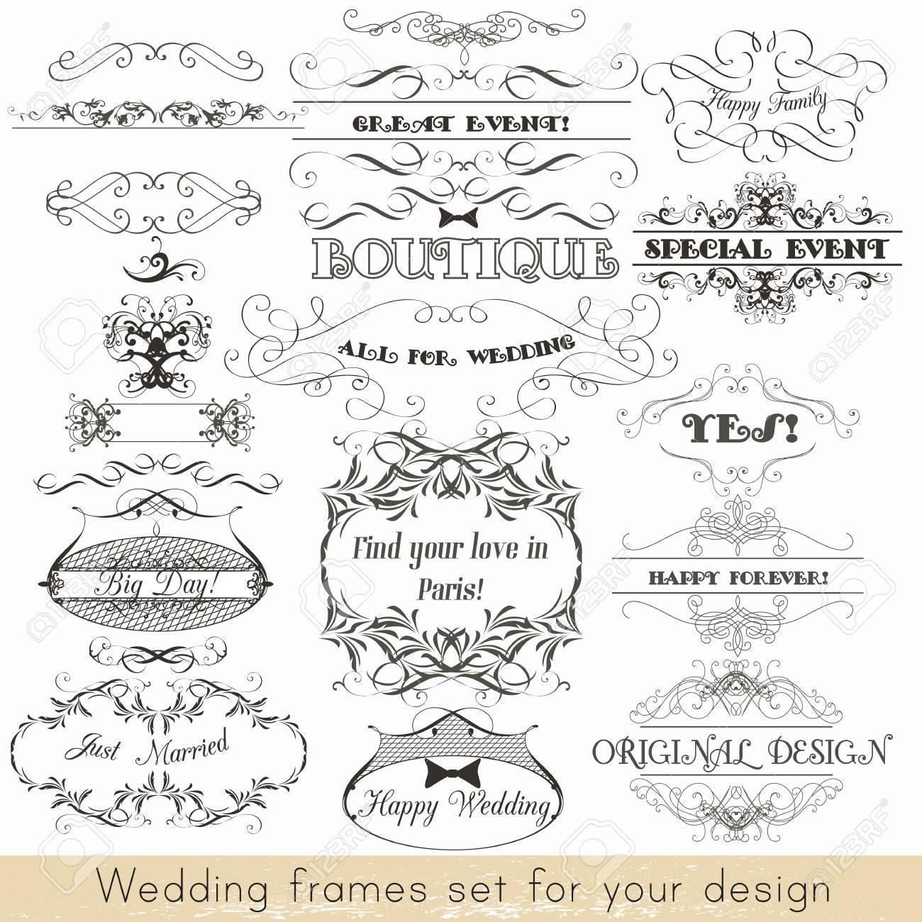 Ungewöhnlich Ränder Und Rahmen Für Hochzeitseinladung Fotos ...