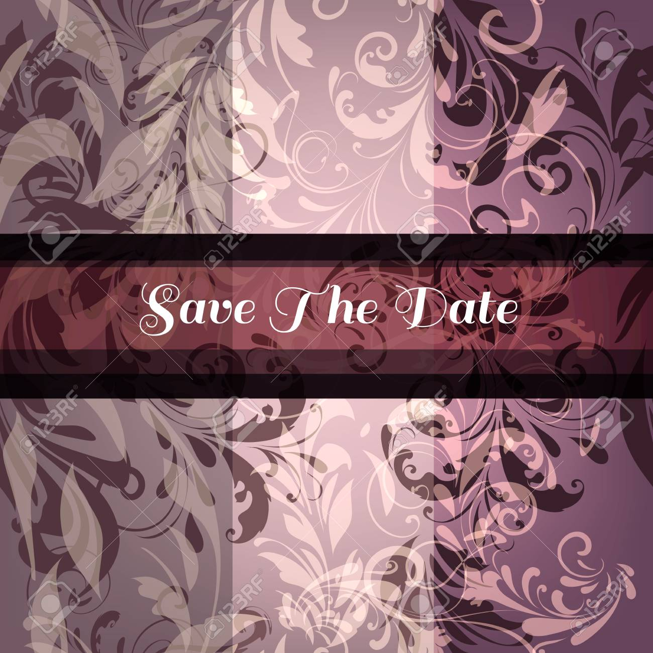 elegant vector save the date card or invitation from ornaments