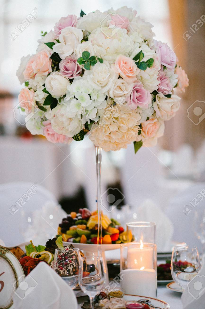 Arreglo De Flores Mesa De Boda Decoración De Boda Flor