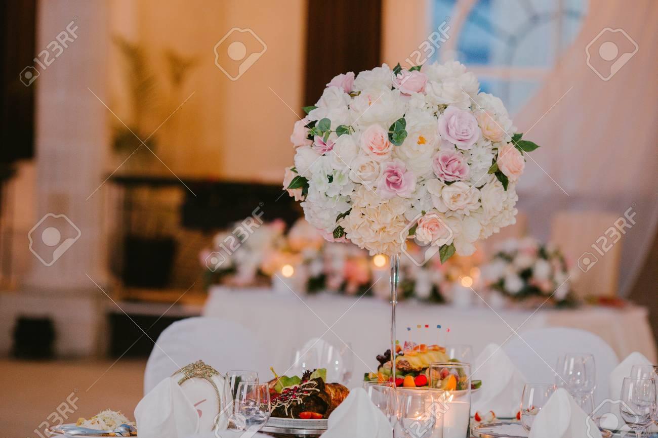 Flower Arrangement Wedding Table Wedding Decor Flower Stock