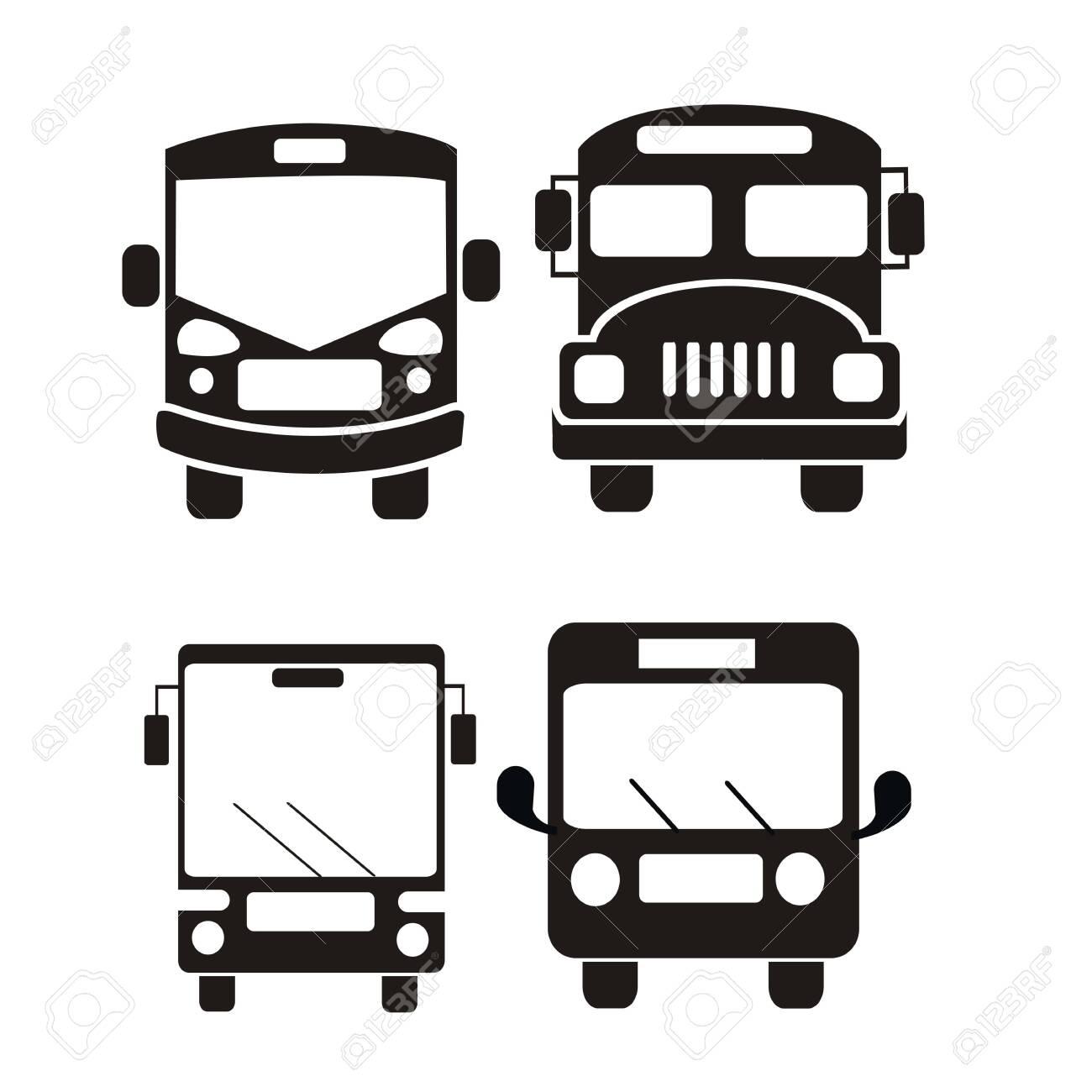 bus icon set vector illustration - 124535983