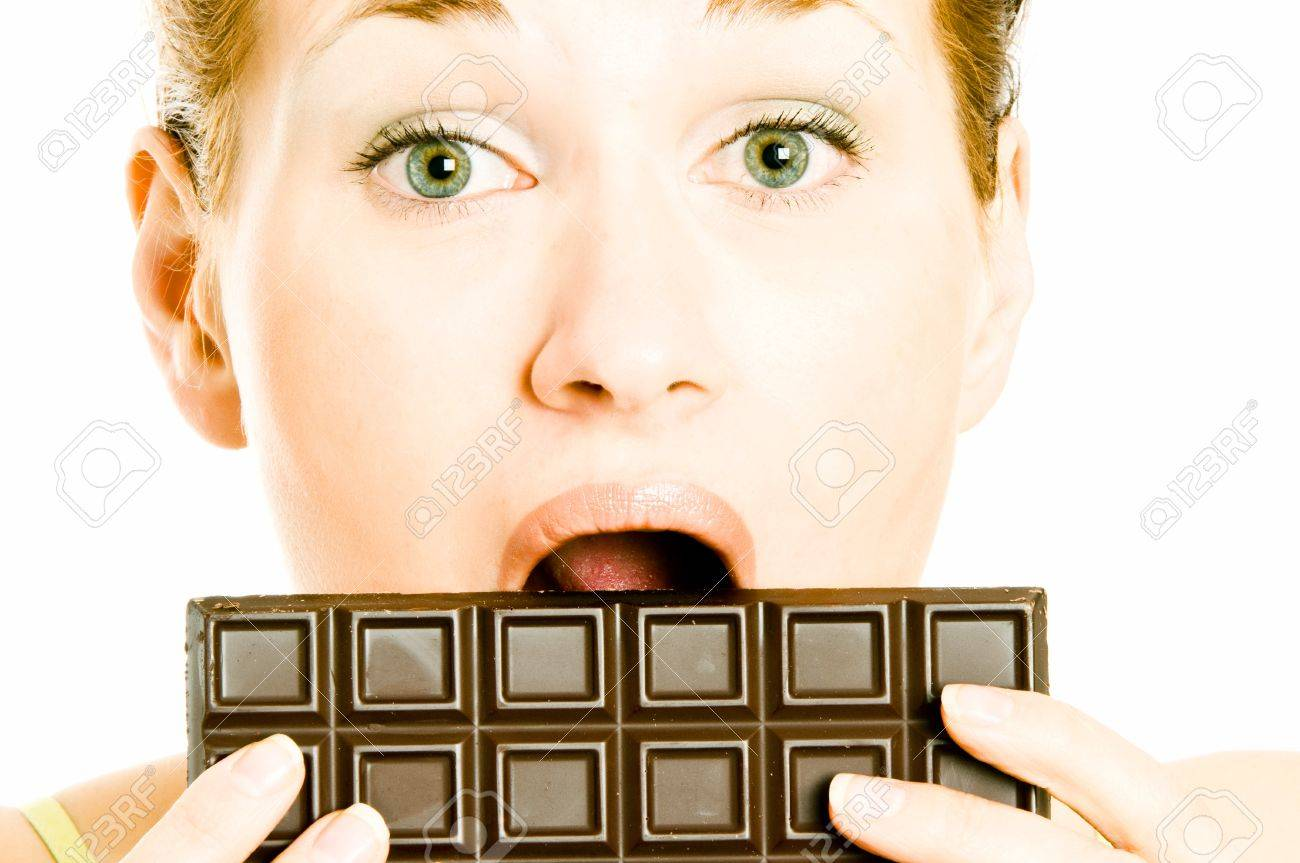 Satisfying A Chocolate Craving Stock Photo, Picture And Royalty ...