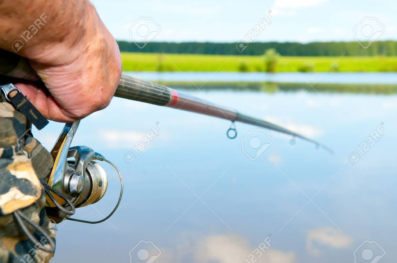 fisherman on river Stock Photo - 9593098