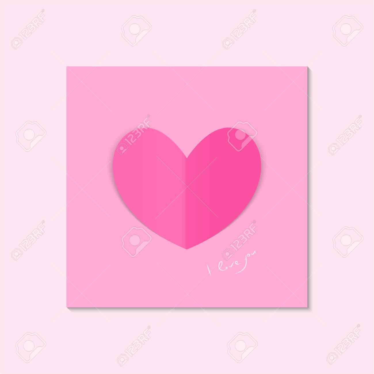 Love Heart For Valentines Day Confession Greeting Card
