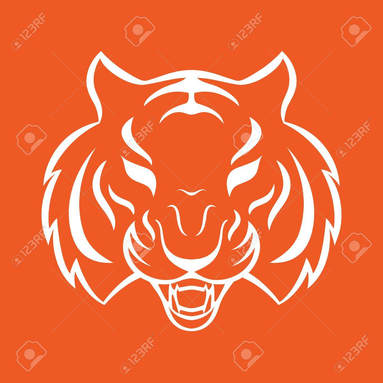 0b14dea1fd01a Tiger icon isolated on a white background. Tiger logo template, tattoo  design, t